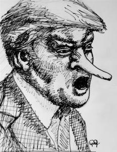 Trump Pinocchio - 1